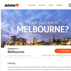 [Jetstar] Still want to go to Melbourne?
