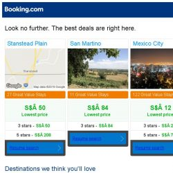 [Booking.com] Stanstead Plain, San Martino, or Mexico City? Get great deals, wherever you want to go