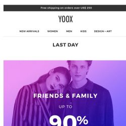 [Yoox] Last day! Up to 90% OFF