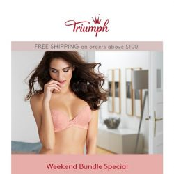 [Triumph] 2 Bras for $69.90 Weekend Bundle Special is Back!