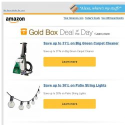 [Amazon] Save up to 31% on Big Green Carpet Cleaner