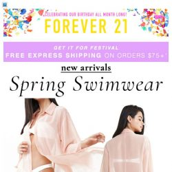 [FOREVER 21] SWIM ON IN ➡️