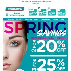 [Watsons] 3 for 25% OFF? Yes please! ‍♀️