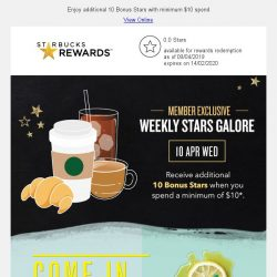 [Starbucks] Take a break with new launches at Starbucks