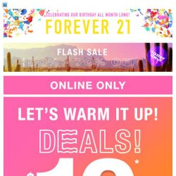 [FOREVER 21] THE BIG SPRING BLOWOUT