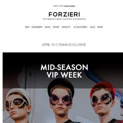 [Forzieri] Mid Season Vip Week - Extra 10% Off Sale