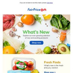 [Fairprice] Discover the new & exciting! 😍
