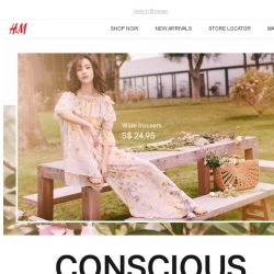 [H&M] It's finally here: Conscious Collection!