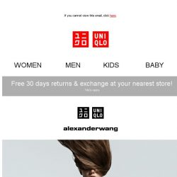 [UNIQLO Singapore] UNIQLO and alexanderwang Spring/Summer 2019 now launched