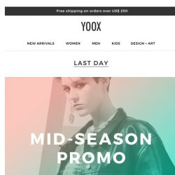 [Yoox] The mid-season continues... But the PROMO ends today!