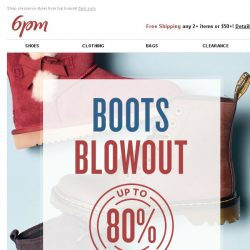 [6pm] Boots Blowout + Clearance!