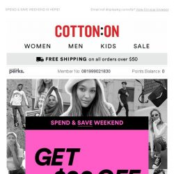 [Cotton On] Want $20 off? 😏 It's like we read your mind