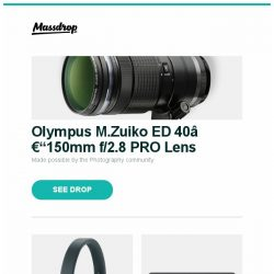[Massdrop] Olympus M.Zuiko ED 40–150mm f/2.8 PRO Lens, Bang & Olufsen Beoplay H4 Headphones, Topping DX3 Pro DAC/Amp and more...