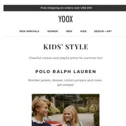 [Yoox] Kids: the Spring/Summer Collections are here