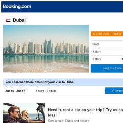 [Booking.com] Prices in Dubai dropped again – act now and save more!
