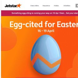 [Jetstar] 😍 An egg-citing sale is starting soon... Are you ready?