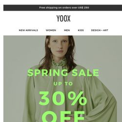 [Yoox] The spring sale starts today!