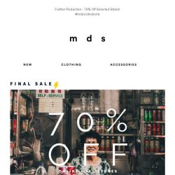 [MDS] Further Reduction Sales! 😛