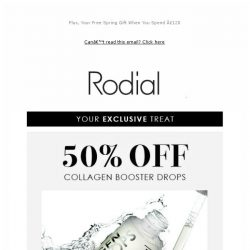 [RODIAL] Exclusive Code: 50% Off Collagen Drops