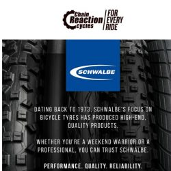 [Chain Reaction Cycles] Schwalbe: Rubber Required