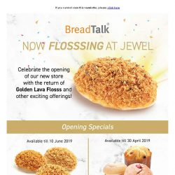 [BreadTalk] Now Flosssing at Jewel Changi Airport! 💎