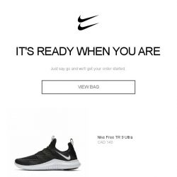 [Nike] Looks like you've forgotten something