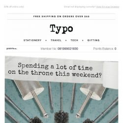 [typo] Spending a lot of time on The Throne this weekend?