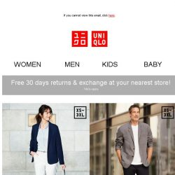 [UNIQLO Singapore] Catch These Island-Wide Offers!