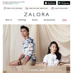 [Zalora] We've got 3 words for you - 20% Off Sitewide