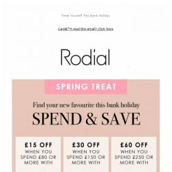 [RODIAL] NOW ON: Save Up To £60 Off Your Order
