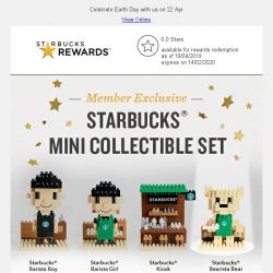 [Starbucks] Upgrade to Gold and grab your Starbucks® Bearista Bear Mini Collectible