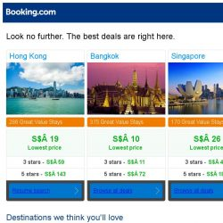 [Booking.com] Prices in Hong Kong are the lowest we've seen in 40 days!