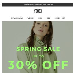 [Yoox] Up to 30% OFF sale: Don't let it slip away!