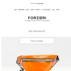 [Forzieri] On Trend: Transparent Appeal