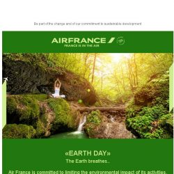 [AIRFRANCE]  Let's make everyday Earth Day!