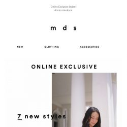 [MDS] 7 New Styles, Online Exclusive!😍