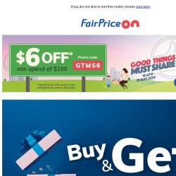 [Fairprice] More gifts this week!