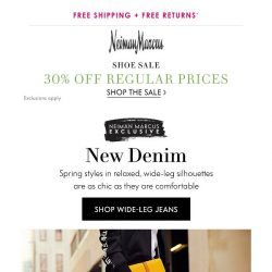 [Neiman Marcus] Easy style: Wide-leg jeans