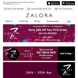[Zalora] Let's get this party started: EXTRA 30% off