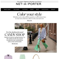 [NET-A-PORTER] 3 ways to wear color now