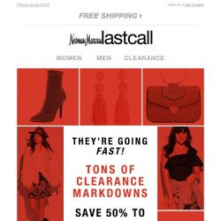 [Last Call] Tons of clearance markdowns extra 50%-75% off