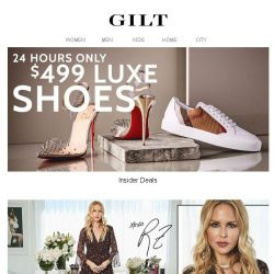 [Gilt] $499 Luxe Shoes. 24-Hour Insider Access.