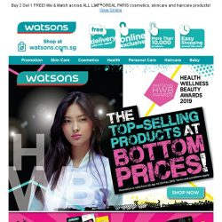 [Watsons] TOP-SELLING products at BOTTOM prices!