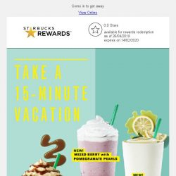 [Starbucks] New refreshing sips for you