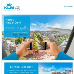 [KLM] Celebrate King's Day with a special discount !
