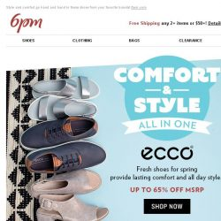 [6pm] Up to 75% off Comfort Shoes!