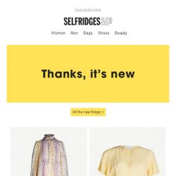 [Selfridges & Co] You're going to want to see this