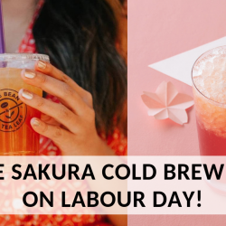 The Coffee Bean & Tea Leaf: FREE Sakura Cold Brew Tea from 1pm to 3pm on Labour Day!