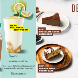Starbucks: NEW Yuzu Honey Jelly Yogurt Frappuccino, Chocolate Black Tea with Earl Grey Jelly Frappuccino & More!