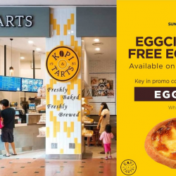 Suntec City: Redeem a FREE Kopi & Tarts Egg Tart on 15 April 2019!